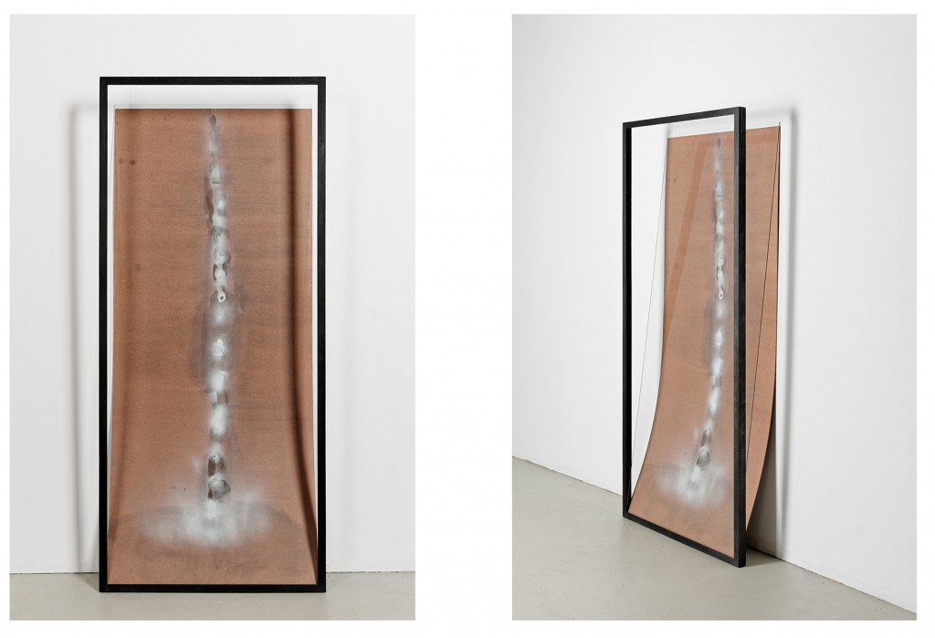Bettina Scholz: Backbone, MDF, glass, acrylic paint, 200×95×35 cm, 2012