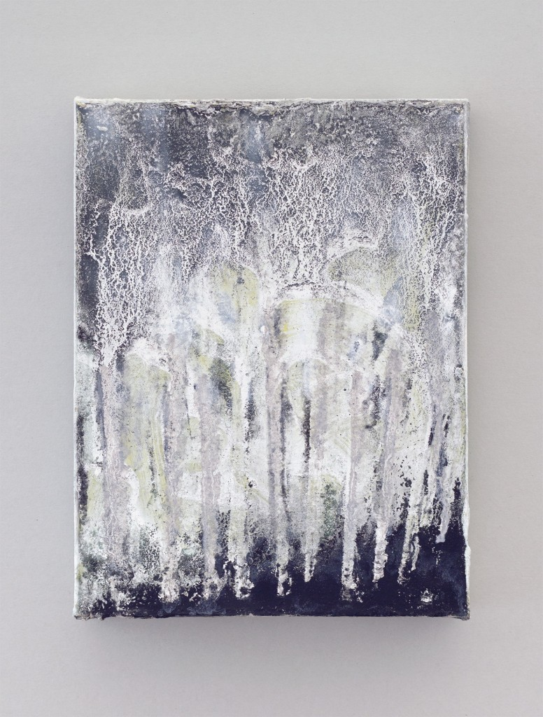 Bettina Scholz: Wald, oil and ink on canvas, 20×15×3,5 cm, 2012