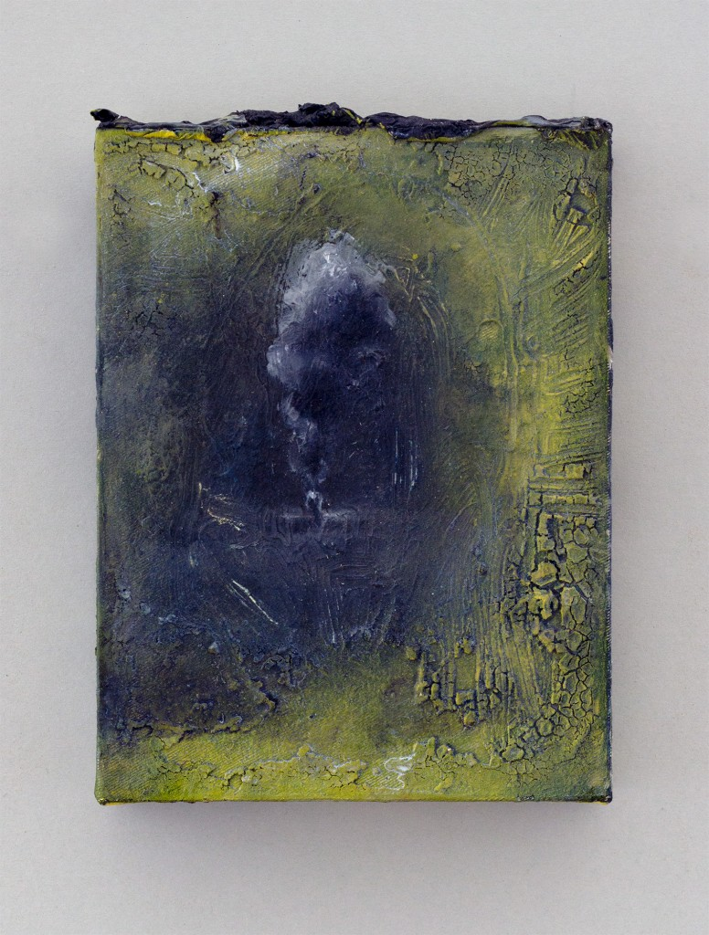 Bettina Scholz: untitled, oil and wax on canvas, 20×15×3,5 cm, 2012