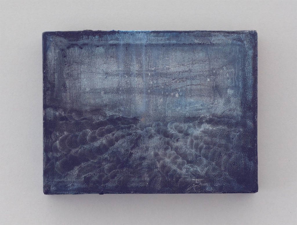Bettina Scholz: Kino, oil on canvas, 20×15×3,5 cm, 2011