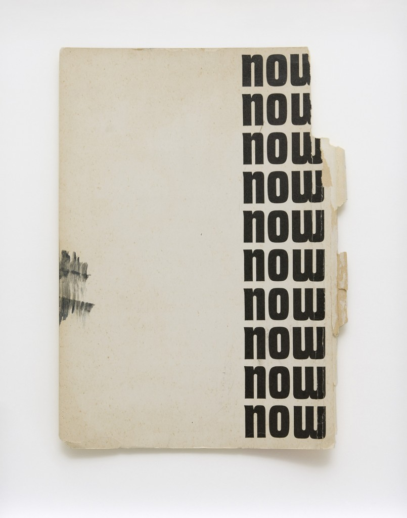 Bettina Scholz: NOW, found magazine page, 45×35 cm, 2012