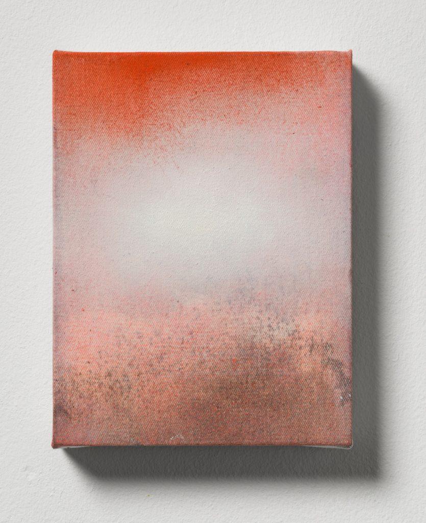 Bettina Scholz: Hitze, Öl auf Leinwand, 20x15x3,5cm, 2019