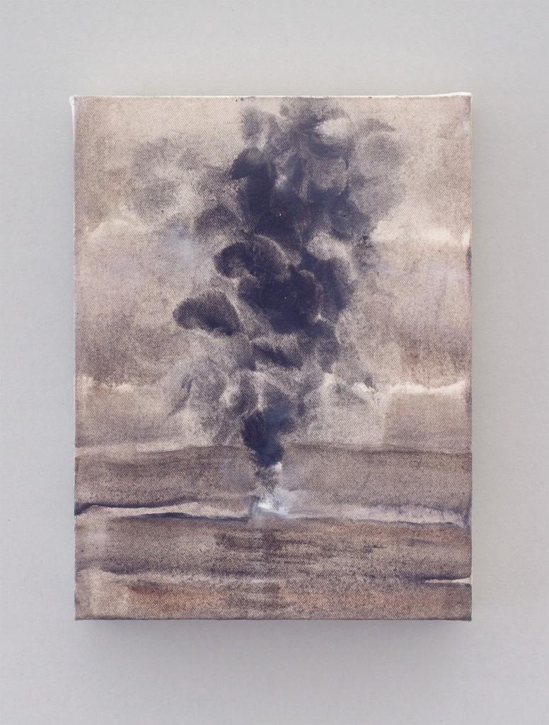 Bettina Scholz: Bohrinsel (3), oil on canvas, 20×15×3,5 cm, 2012