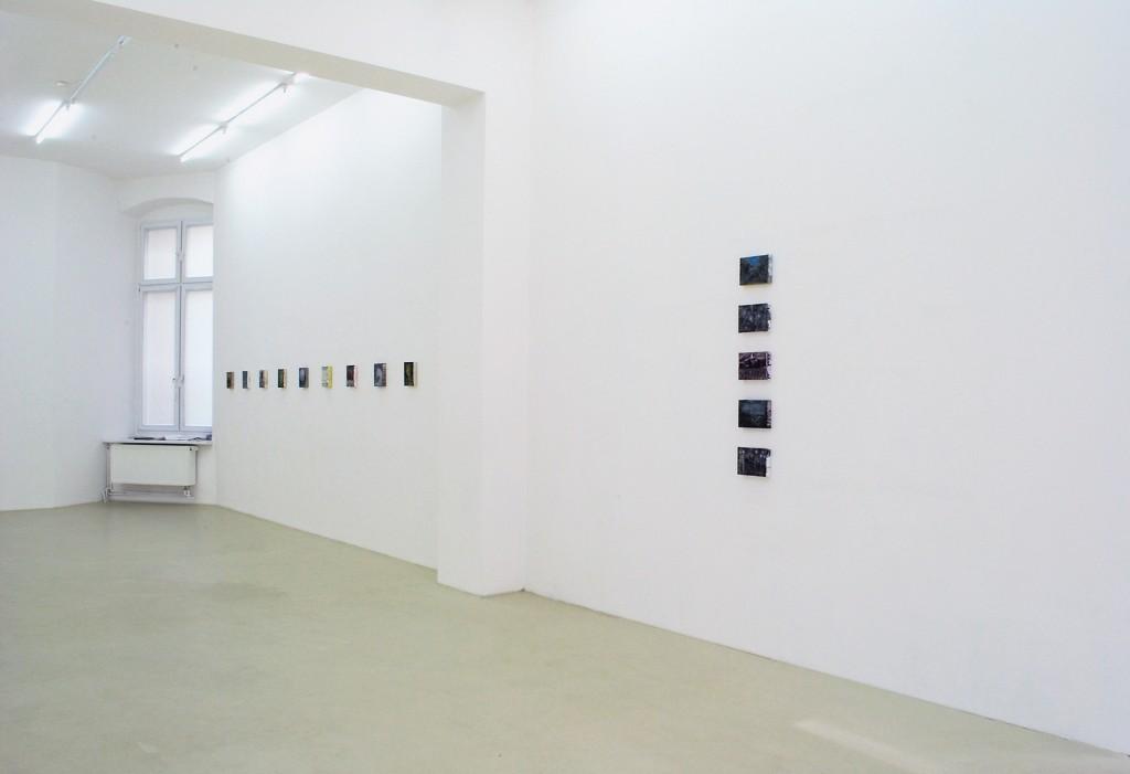 Bettina Scholz: installation view, solo exhibition:20×15×3,5atGalerie M+R Fricke, Berlin, 2012