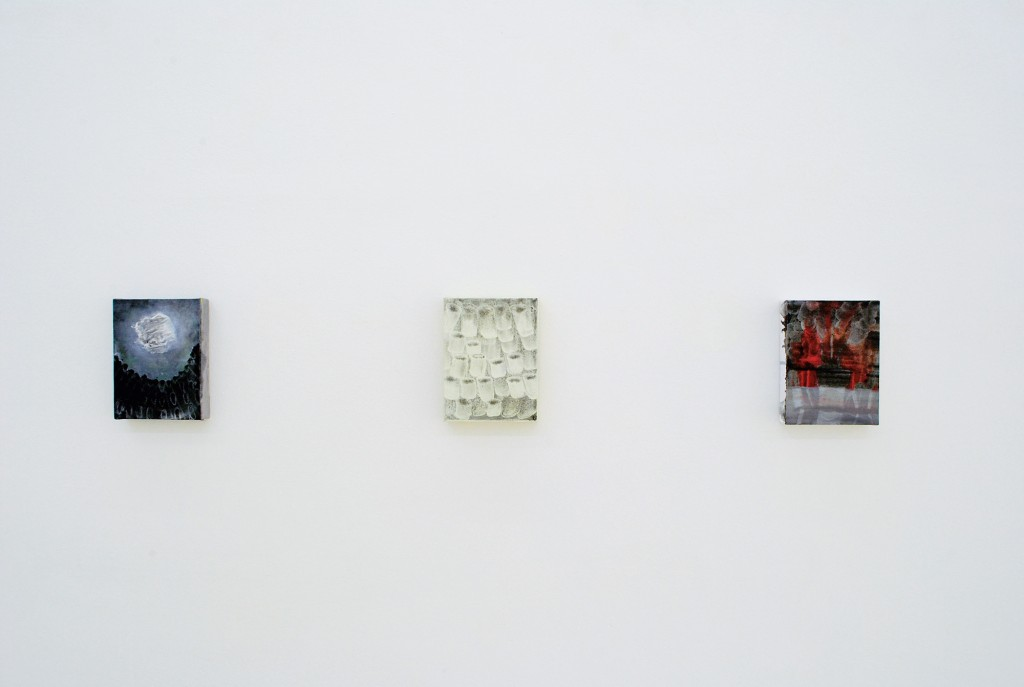 Bettina Scholz: installation view, solo exhibition:20×15×3,5 at Galerie M+R Fricke, Berlin, 2012