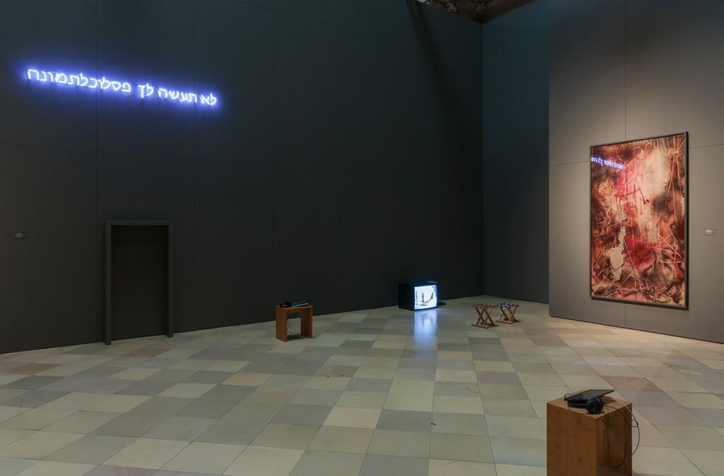 Bettina Scholz: Exhibition at Berliner Dom, glass painting: Bettina Scholz, photo: Marcus Schneider